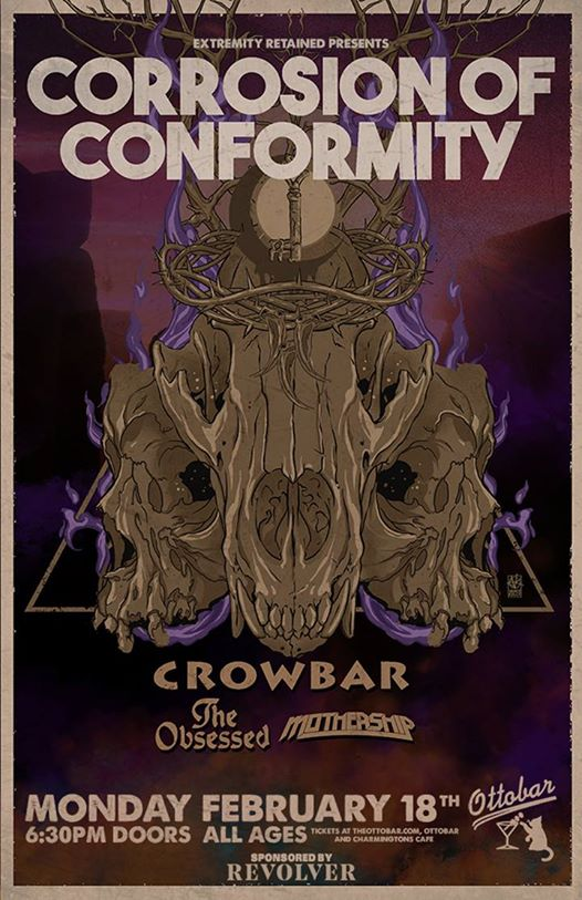 Corrosion Of Conformity, Crowbar, The Obsessed, and Mothership Monday!